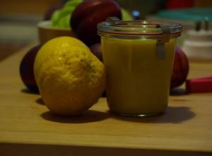 Lemon Curd Glas fertig